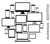 set of realistic computer...   Shutterstock .eps vector #602575733