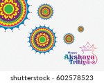 akshaya tritiya background... | Shutterstock .eps vector #602578523