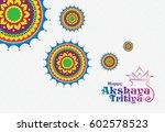 akshaya tritiya background... | Shutterstock .eps vector #602578523