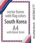 frame and border of ribbon with ... | Shutterstock .eps vector #602582177