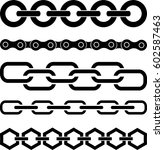 set of chains | Shutterstock .eps vector #602587463