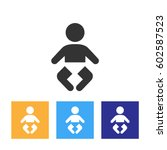 baby icon | Shutterstock .eps vector #602587523