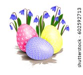 several easter bright colored... | Shutterstock .eps vector #602592713