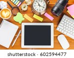 workplace  top view | Shutterstock . vector #602594477