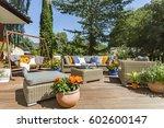 spacious villa terrace with... | Shutterstock . vector #602600147