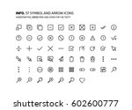 symbols mini line ... | Shutterstock .eps vector #602600777