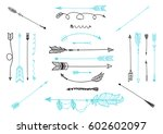 hand drawn ethnic decoration... | Shutterstock .eps vector #602602097