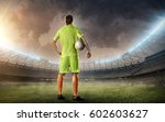 soccer player with a ball  | Shutterstock . vector #602603627