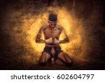 thai boxing  muay chaiya  is...   Shutterstock . vector #602604797