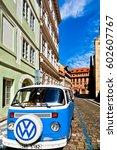 Vintage Volkswagen Van On The...