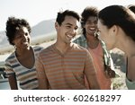 a group of friends  men and... | Shutterstock . vector #602618297