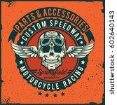custom speedway   motorcycle  ... | Shutterstock .eps vector #602640143