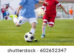 football soccer match for... | Shutterstock . vector #602652347
