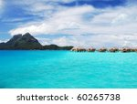 view of bora bora and otemanu...   Shutterstock . vector #60265738