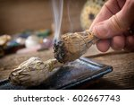 Man's Hand With Burning Natura...