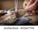Man's Hand With Burning Natura...