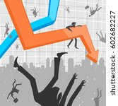 people and economic crisis | Shutterstock .eps vector #602682227