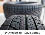 new automobile tire for use on... | Shutterstock . vector #602688887