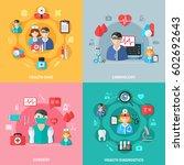medicine flat design concept... | Shutterstock .eps vector #602692643