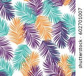 seamless pattern with palms. | Shutterstock .eps vector #602701007