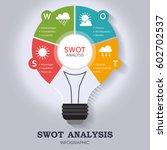 swot analysis infographic... | Shutterstock .eps vector #602702537