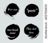 hand drawn black paint ink... | Shutterstock .eps vector #602703653