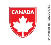 a canadian patch featuring a... | Shutterstock .eps vector #602704787