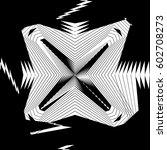 random monochrome glitchy ... | Shutterstock .eps vector #602708273