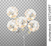 3d holiday bunch of birthday... | Shutterstock . vector #602714597