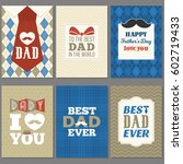 card template for father's day  ... | Shutterstock .eps vector #602719433