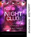 neon sign. night club disco... | Shutterstock .eps vector #602740997