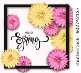 spring background with... | Shutterstock .eps vector #602742137