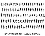 people athletes on running race ... | Shutterstock . vector #602755937