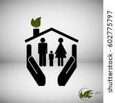 family eco  security ... | Shutterstock .eps vector #602775797