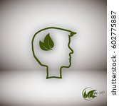 eco head  organic  natural | Shutterstock .eps vector #602775887