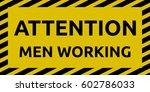 men working sign | Shutterstock .eps vector #602786033