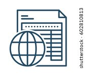 document with globe vector icon ... | Shutterstock .eps vector #602810813