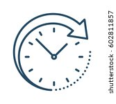 arrow around clock vector icon | Shutterstock .eps vector #602811857