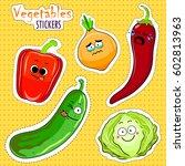 cartoon vegetable cute... | Shutterstock .eps vector #602813963