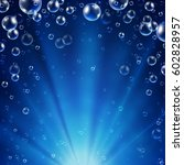 abstract underwater background... | Shutterstock .eps vector #602828957
