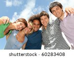 group of happy students during... | Shutterstock . vector #60283408