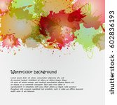 watercolor backgrounds for... | Shutterstock .eps vector #602836193