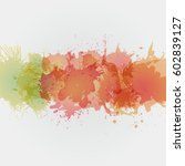 watercolor backgrounds for... | Shutterstock . vector #602839127
