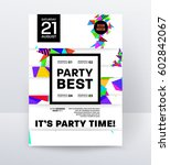 invitation disco party poster... | Shutterstock .eps vector #602842067