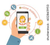 online support service... | Shutterstock .eps vector #602865953