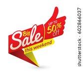 big sale price offer deal... | Shutterstock .eps vector #602866037