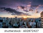 Sunset Over Cityscape  Caracas...