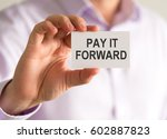 closeup on businessman holding... | Shutterstock . vector #602887823