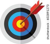 target  arrow and bulls eye icon   Shutterstock .eps vector #602891273