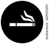 smoking area sign black. vector. | Shutterstock .eps vector #602921393